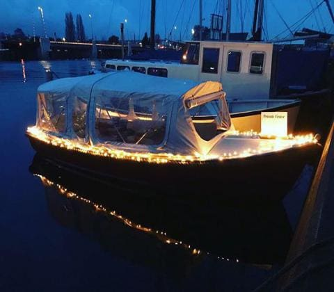 Coffeeshop Boat Tour Amsterdam - your boat by night